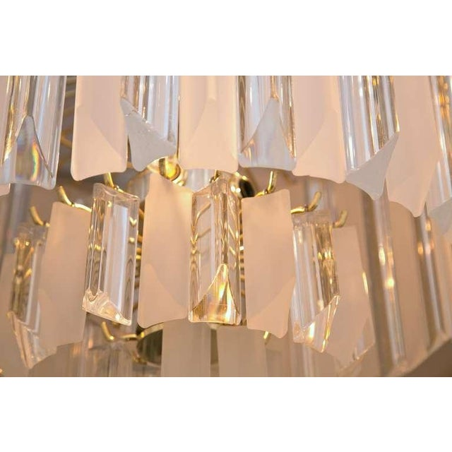 Image of Mid-Century Modern Lucite Prism Chandelier