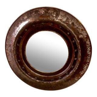 Round Embossed Beveled Mirror