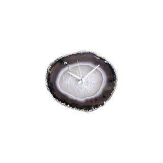 Modern Natural Agate Clock