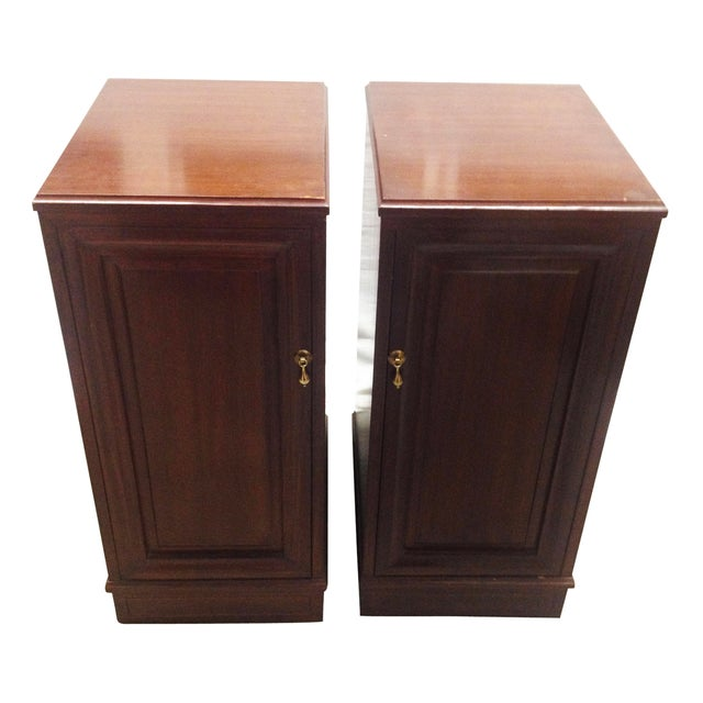 Mahogany Speaker Cabinets - Pair - Image 1 of 8