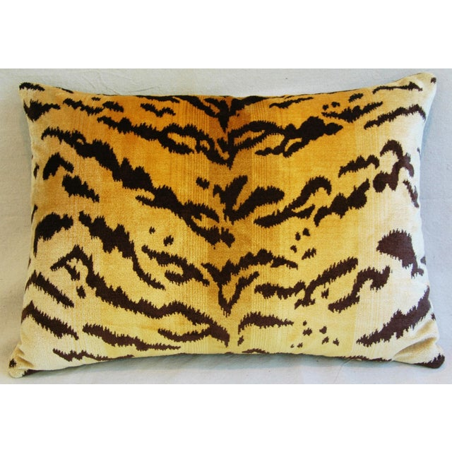 Italian Tiger Stripe & Mohair Pillow - Image 4 of 5