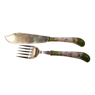 Sheffield Silver Serving Knife & Fork - A Pair