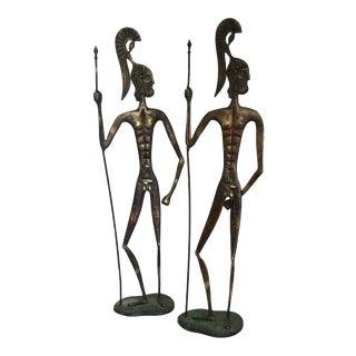 Weinberg Style Bronze Roman Warriors - A Pair