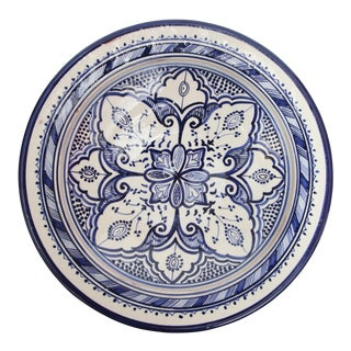 Atlas Blue & White Ceramic Plate