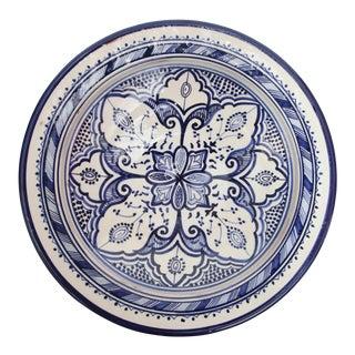Atlas Blue & White Ceramic Plate