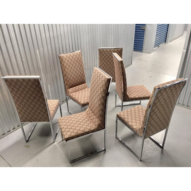 Milo Baughman Patterned Dining Chairs - Set of 6 - Image 2 of 11