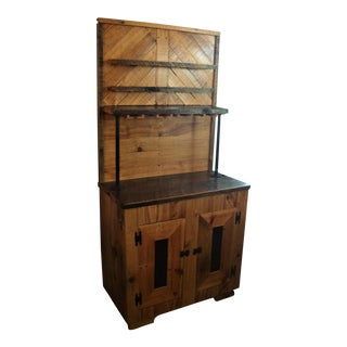 Hand-Made Reclaimed Wood Bar Cabinet