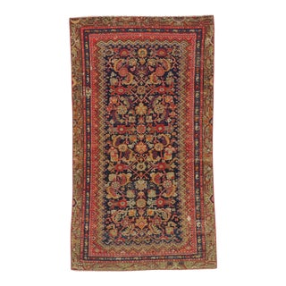 Antique Distresssed Small Persian Malayer Rug - 3′3″ × 5′9″