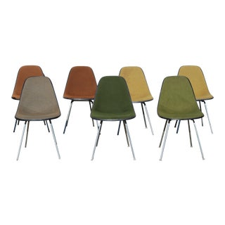 Eames for Herman Miller Upholstered Chairs - Set of 7