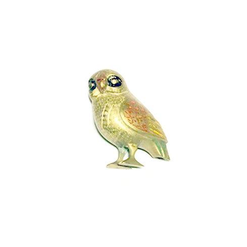 Image of Vintage Brass Owl