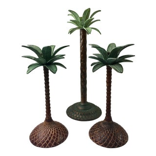 Palm Tree Candleholders - Set of 3