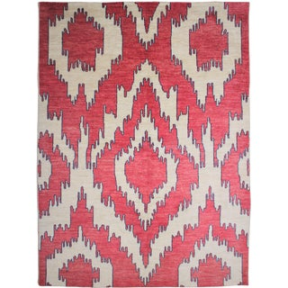 """Hand Knotted Ikat Rug by Aara Rugs Inc. - 12'0"""" x 9'5"""""""