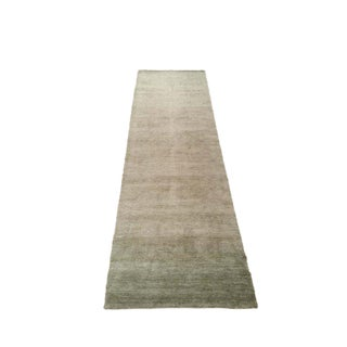 Modern Contemporary Bamboo Silk Hand Made Knotted Rug - 3′ × 9′10″