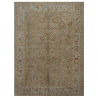 "Traditional Turkish Oushak Rug - 6'9"" x 9'6"""