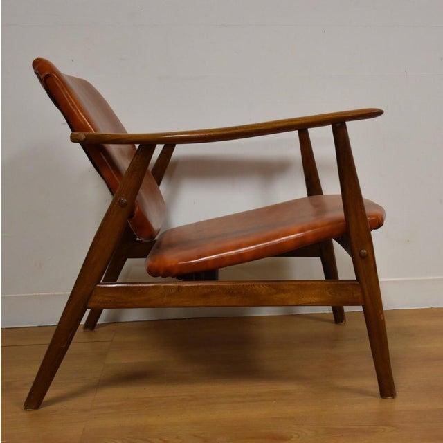 Brown Vinyl Lounge Chair - Image 7 of 9