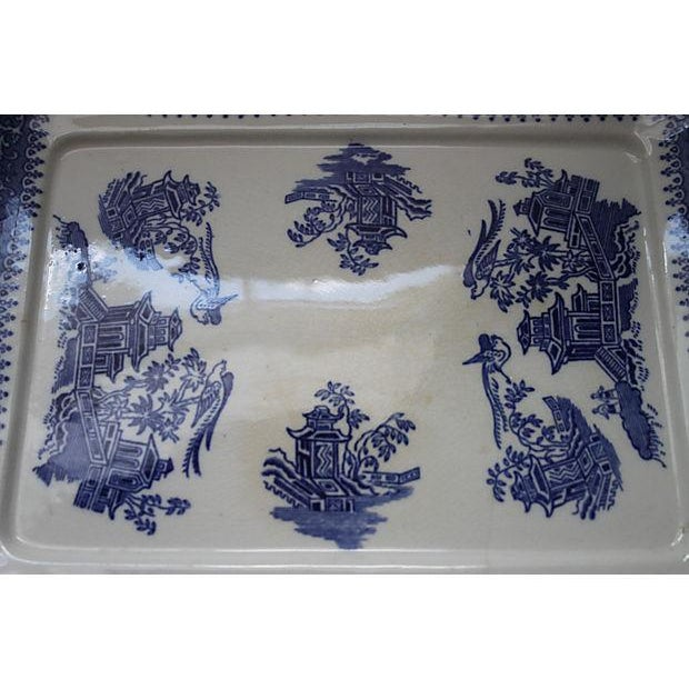 19th Century Blue Willow Ironstone Tray - Image 3 of 4