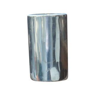 Spal Portugal Modern Stainless Steel Chrome Vase