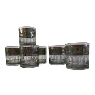 Cera Golden Grapes Rocks Glasses - 6