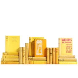 Vintage Yellow Books - Set of 20