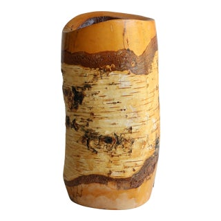 Varnished Birch Vase