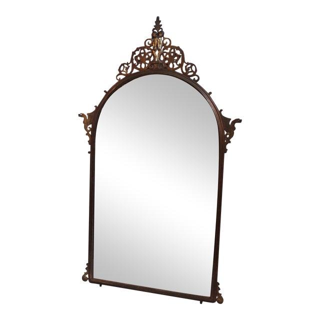 Image of 1920's Oscar Bach Neo-Gothic Mirror