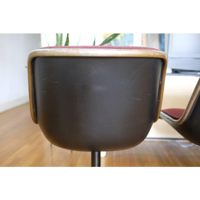 Charles Pollock Knoll Armless 4 Star Base Side Chairs- Set of 3 - Image 7 of 10