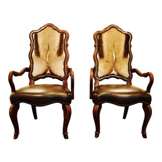 A Pair of South African Springbok Antelope Accent Chairs