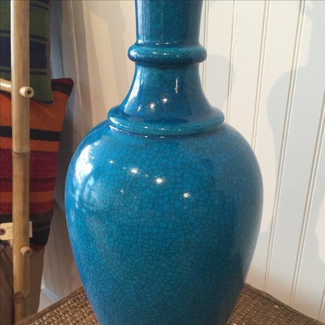 Frederick Cooper Cerulean Blue Crackle Lamp - Image 3 of 11