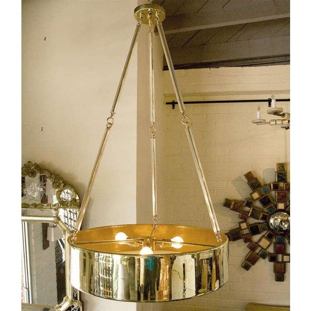 Paul Marra Brass Drum Chandelier - Image 10 of 10