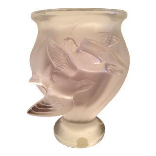 Vintage Lalique Frosted Crystal Vase