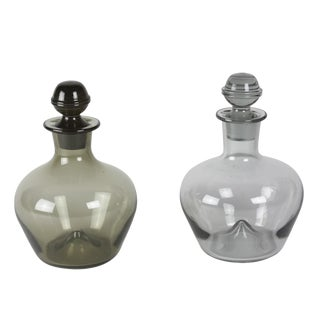 Pair of Tinted Glass Decanters