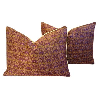 Pierre Frey Royal Medallion Pillows - a Pair