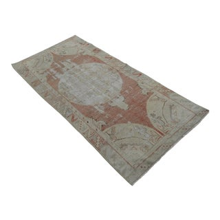 "Hand-Knotted Vintage Distressed Area Rug - 2'10"" x 5'11"""