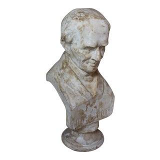 Antique Plaster Bust of Humboldt