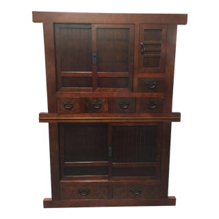 2-Piece Stacking Tansu Chest