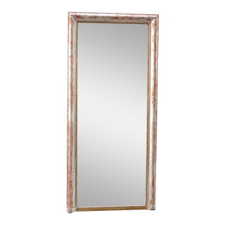 Mid-19th Century French Louis Philippe Silver Plated Pier Mirror