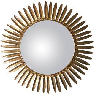 Italian Mid-Century Convex Sunflower Mirror
