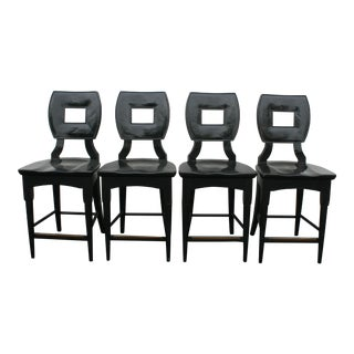 Barclay Butera Black Ming Counter Stools - Set of 4
