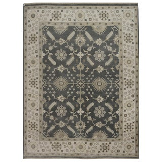 Hand Knotted Indian Oushak Rug - 8′1″ × 9′10″