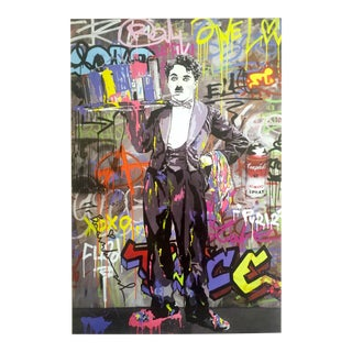 "Mr. Brainwash "" Charlie Chaplin "" Original Lithograph Print Pop Art Poster"