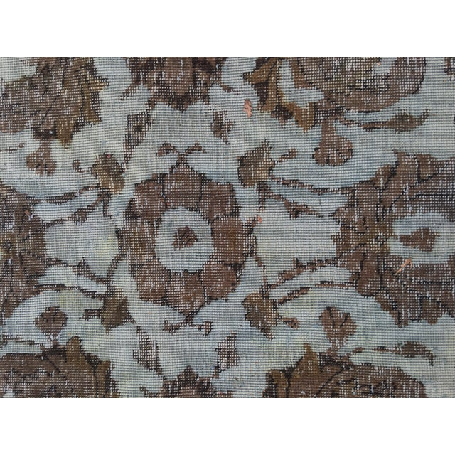 """Overdyed Distressed Persian Rug - 9' X 10'4"""" - Image 8 of 10"""