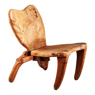 Don Shoemaker Studio Craft Wooden Chair, Mexico, 1960s