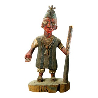 Yoruba Polychrome Sculpture of an Oba