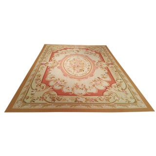 10′ × 14′ Aubusson Weave French Style Hand Made Rug - Size Cat. 10x14