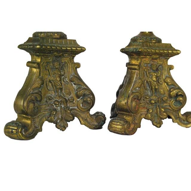 Antique French Pricket Sticks - A Pair - Image 2 of 5