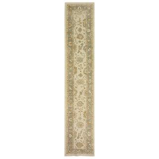 Turkish Wool Oushak Rug - 3′ × 16′5″