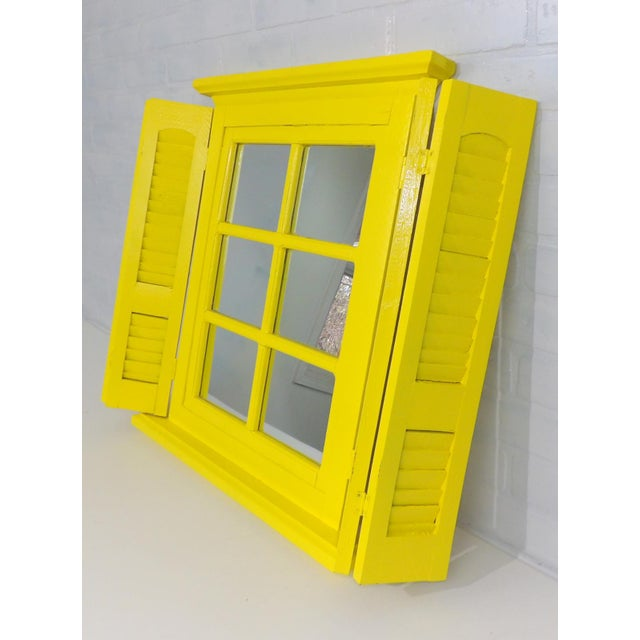 Yellow Window Pane Wall Mirror - Image 8 of 9