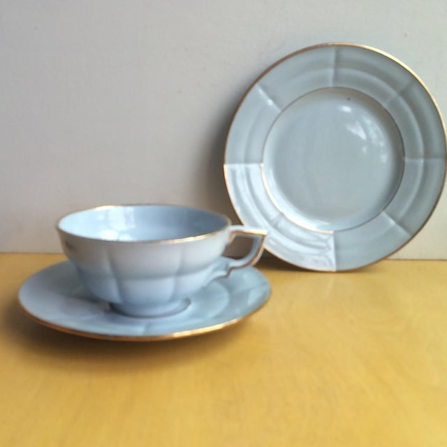 Image of 3-Piece Upsala Ekeby Cup & Saucer Set