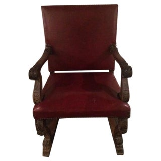 Antique Carved King Chair