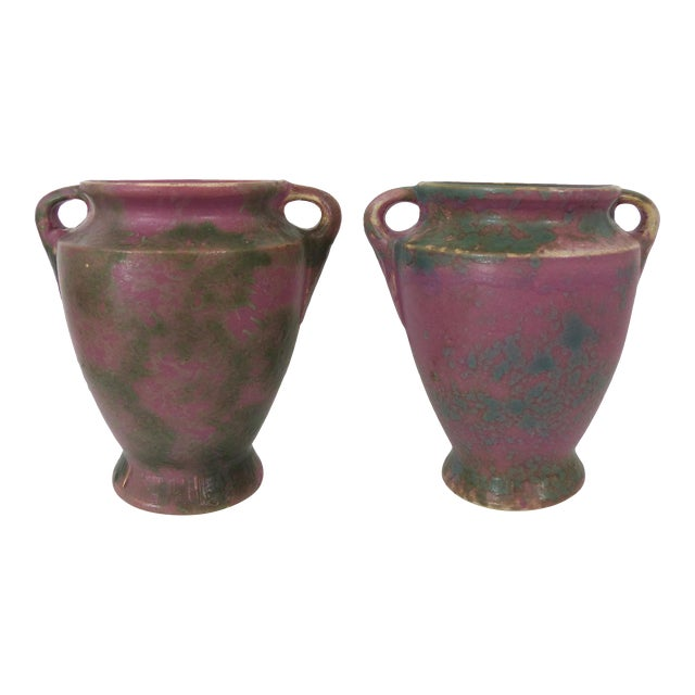 Vintage Burley-Winter Double Handled Urns - A Pair - Image 1 of 11